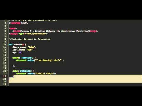 Introduction JavaScript Objects & Arrays