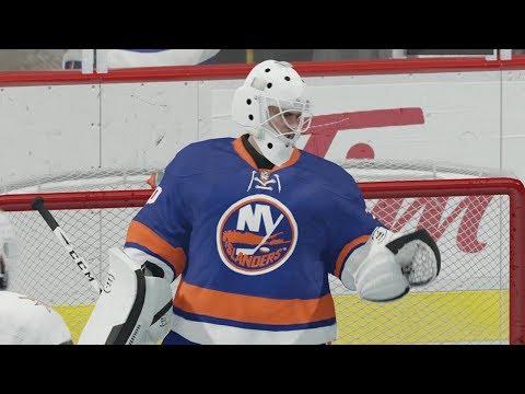 NHL 18 - EASHL Goalie #2 - LOTS OF ACTION!