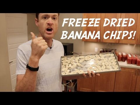 HOME FREEZE DRIED BANANA CHIPS 😲 SO ADDICTING!