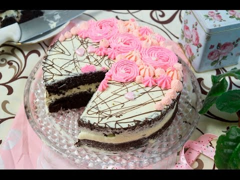 Chocolate cake with pastry cream