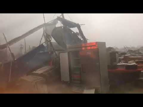 Heavy wind and rain cause major damage at Bayou Boogaloo in New Orleans