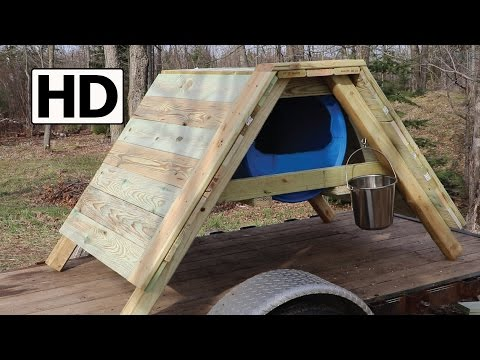 How to Build an A-Frame Sled Dog House | Detailed Construction