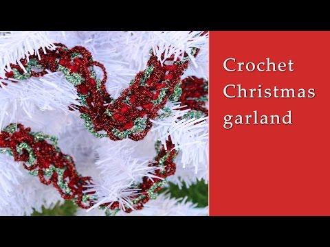 Crochet Christmas garland tutorial