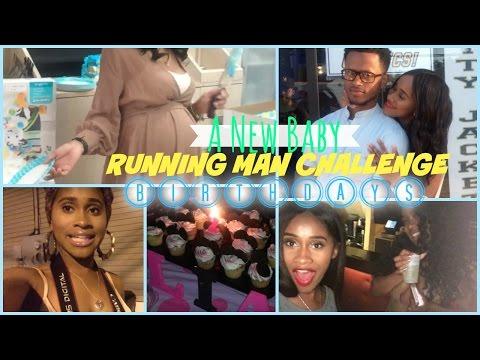 Vlog  Birthdays, RUNNING MAN CHALLENGE + A New Baby   Nae and Nea