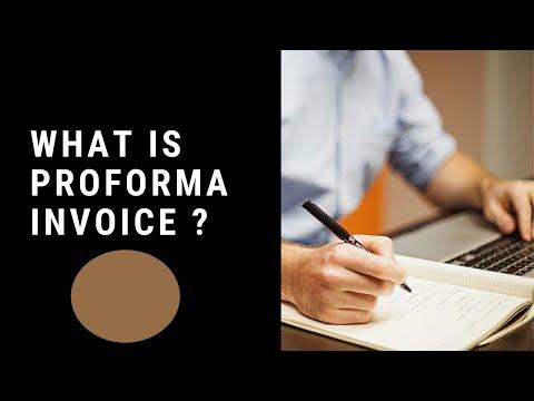 S.#8 What is PROFORMA INVOICE? in Urdu / Hindi