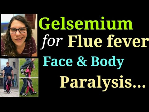 Gelsemium homeopathy remedy Dosage, usage, symptoms, benefits in fever, paralysis, fear, flue fever.