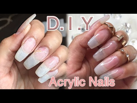 DIY: How I do my Natural looking Acrylic Nails | lilybetzabee