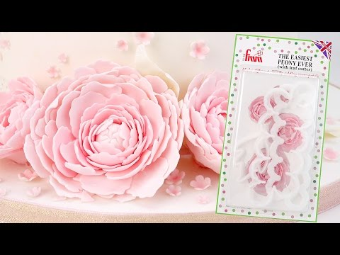 How To Make Quick & Easy Sugar Peonies using The Easiest Peony Ever Cutter