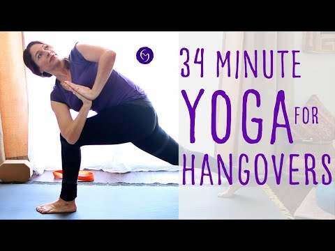 34 Minute Yoga for Hangovers With Fightmaster Yoga