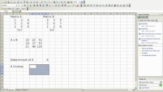 Matrix Multiplication And Inverse In Excel