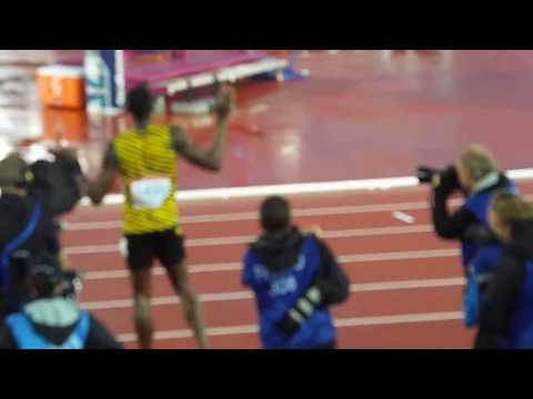 Usain  Bolt Final of 4 x100m at Glasgow 2014 Commonwealth Games
