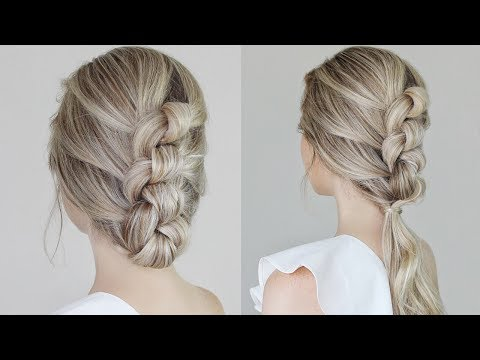 Easy Knotted Updo & Ponytail Tutorial