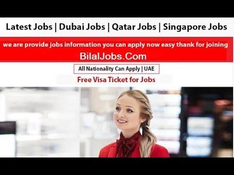 Jobs In Dubai Free Visa & Ticket Salary 6,000 Durham/-
