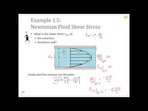 Ch1: Shear Stresses and Boundary Layers