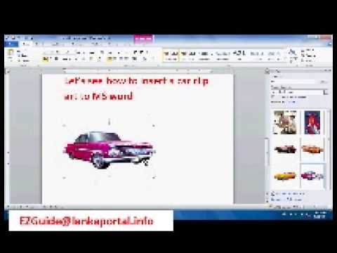 How to Insert Clip Art & Images in MS Word - Lesson 02