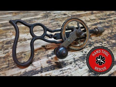 Rare 1919 Stanley No. 610 Hand-cranked Pistol-grip Drill [Restoration]