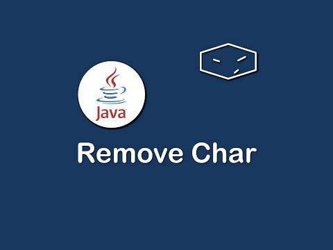 remove char in string in java