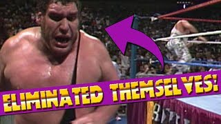 9 WWE Wrestlers Who Eliminated Themselves in A Royal Rumble!