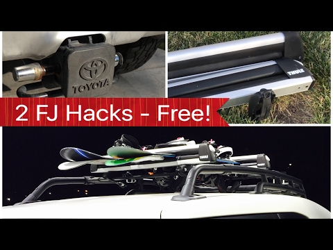 FJ Cruiser Tips and Tricks Free Hitch Cap and ski Snowboard Rack snowboard rack