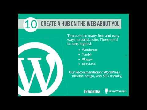 BrandYourself Webinar: 10 Easy Ways to Improve Your Online Reputation