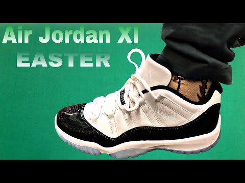 Air Jordan 11 Low Emerald Green (Easter) on Feet with 1st look and Thoughts