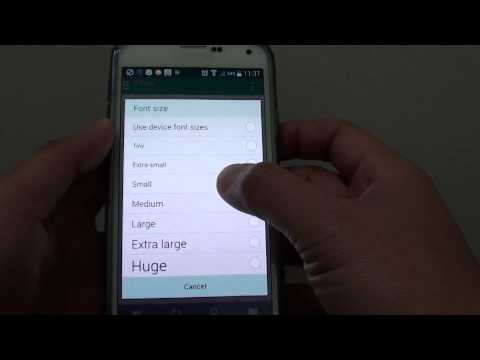 Samsung Galaxy S5: How to Change Email Inbox List Font Size