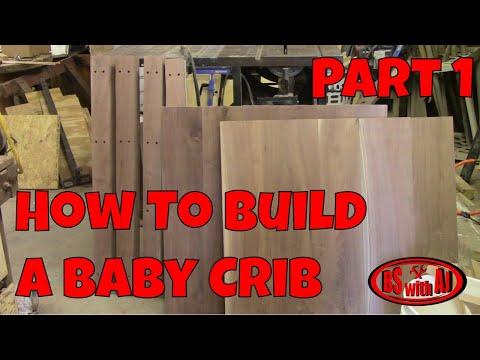 Walnut Baby Crib Part 1!!