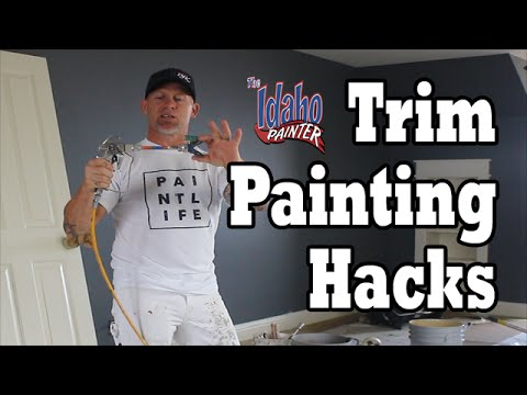 Interior Trim Painting Hacks.  DIY How To Paint House Trim Work.