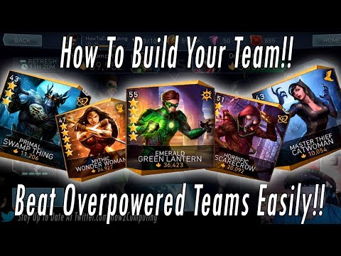 How To Beat High Threat Teams! How To Build Your Team! Win Every Battle Easily! Injustice 2 Mobile