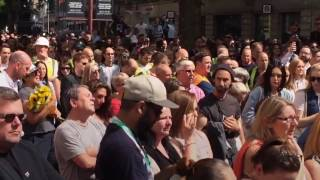 manchester crowd sing oasis song after minutes silence