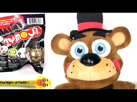 Five Nights At Freddy's Toy Freddy Plush, Mymojis, Pens, Dog Tag and Keychains