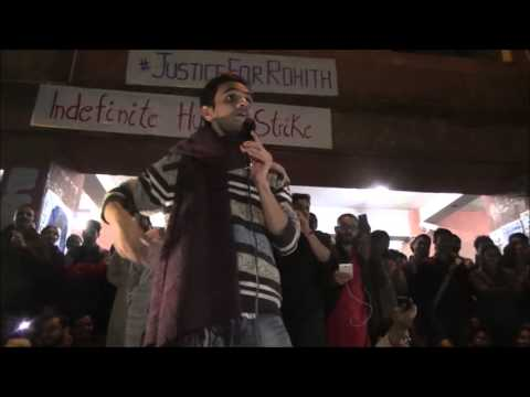 Umar Khalid Speech at Admin Block today 22 Feb. 2016 #StandWithJNU