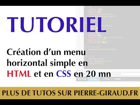 Création d'un menu horizontal simple en HTML et CSS