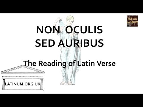 NON OCULIS SED AURIBUS - looking at Becker's discussion of teaching Latin Verse