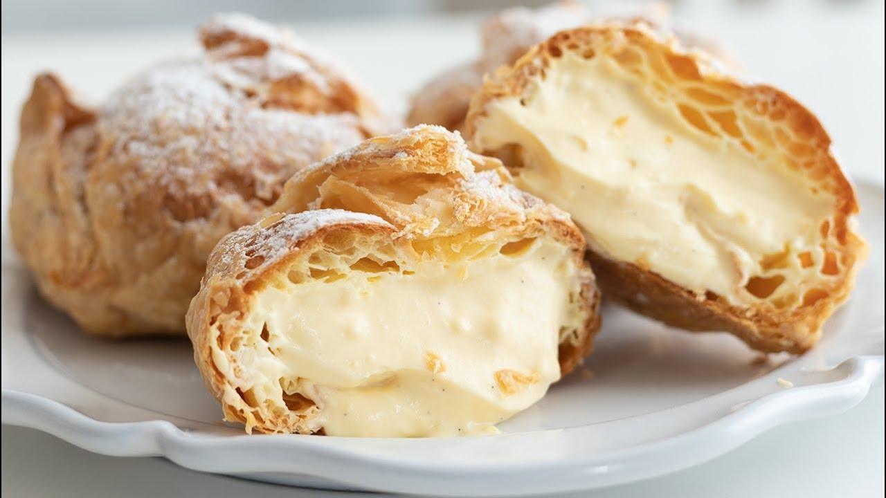 シュークリーム:パイシューの作り方 Cream puffs:Choux au Craquelin HidaMari Cooking