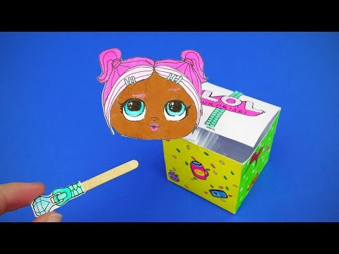 DIY LOL Dolls Surprise Pop Out Paper Toy | Jack In The Box Video Tutrial For Kids