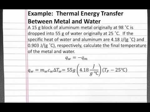 CHEMISTRY 101: Thermal Energy Transfer Between Metal and Water