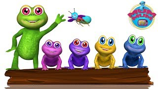 Five Little Speckled Frogs Song, Lyrics | English Nursery Rhymes Songs for Kids | Mum Mum TV