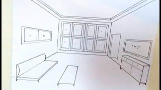 drawing a living room in one point perspective Videos - 9tube.tv