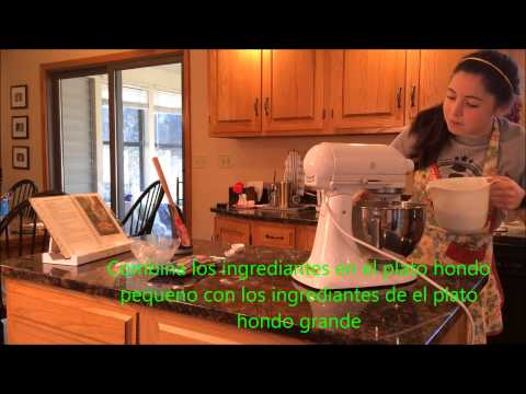 Cookie Baking Instructions in Spanish