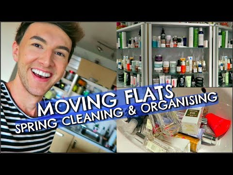 MOVING FLATS, SPRING CLEANING & ORGANISING (DAILY VLOG)