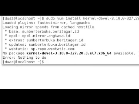 Virtualbox on Centos 7 - No package kernel-devel-3.10.0-327 available.