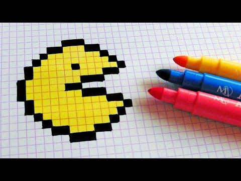 Handmade Pixel Art - How To Draw a Pac-man #pixelart