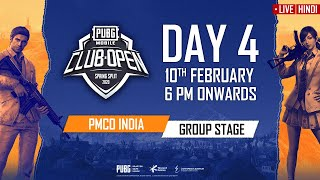 [Hindi] PMCO India Group Stage Day 4   Spring Split   PUBG MOBILE CLUB OPEN 2020