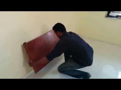 wall-mounted folding desk