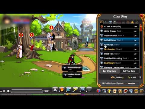 AQW Free AC Items?! All Classes for free!