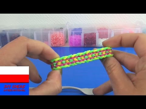 Bransoletka Dragon Scale z gumeczek loom bands tutorial