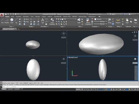 AutoCAD 3D - How to Draw Tri-Axial Ellipsoid | AutoCAD 3D Ellipse