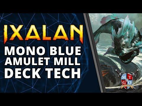 Mono Blue Amulet Mill Ixalan Standard Deck Tech | MTG