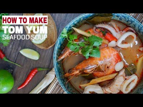 Thai Tom Yum Soup with Seafood (Tom Yum Talay)
